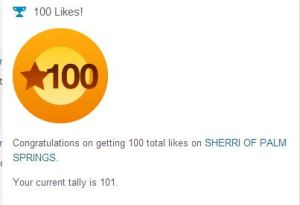 Thank you so much for my little star for 100 comments . this is just the nicest way to show to say thank you so much to all who have like my blog... wow, really thrilled Sherri