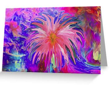 wheeping flower of love greeting card