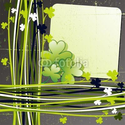 St Patrick's Day Shamrock Grunge Card