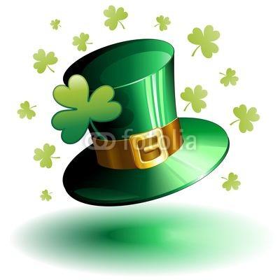 St Patrick's Hat with Shamrocks