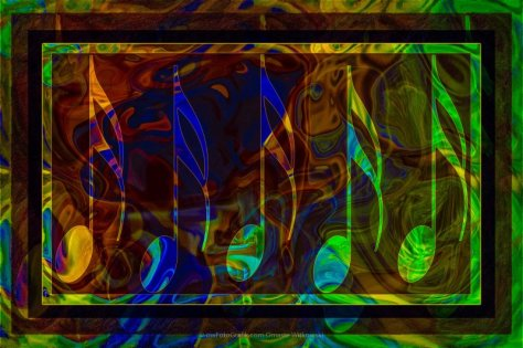Music is Magical Abstract Healing Art