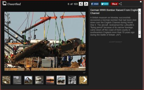 German Bomber Just brought up..little article