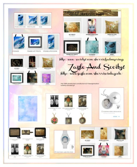 sherri's Zazzle and Society6 products