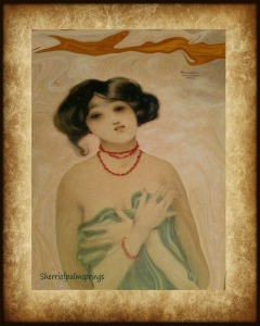 Nostalgia Oriental Woman Of Love by Sherri Of Palm Springs.