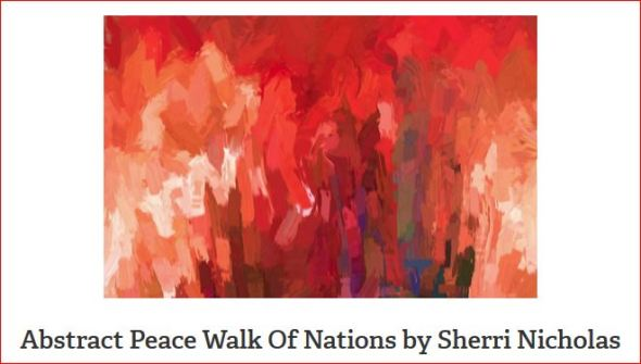 Walk Of All Nations For Peace by Sherri Of Palm Springs