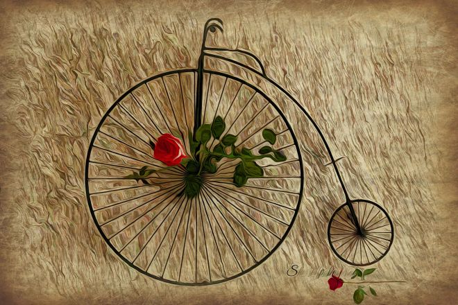 antique 3 big wheel