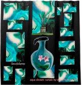 aqua shower curtain by sherri nicholas