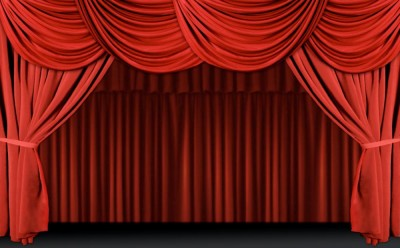 A stage curtain
